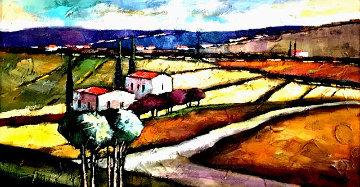 Wheat Field 2003 40x26 Huge Original Painting - Slava Brodinsky
