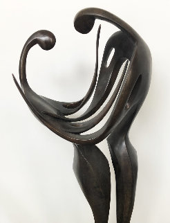I Am So Proud to Know That You Are Mine Bronze Sculpture 2008 34 in Sculpture - Leon Bronstein