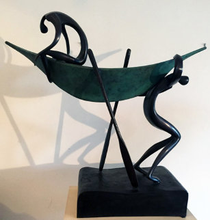 Looking For Deep Water Bronze Sculpture 1992 Sculpture - Leon Bronstein