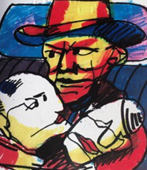 Tribute to Hank Williams 1999 17x15 Original Painting by Herman Brood