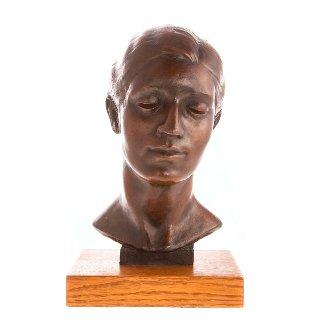 Yetta Bronze Sculpture 1933 12 in Sculpture - Joe Brown