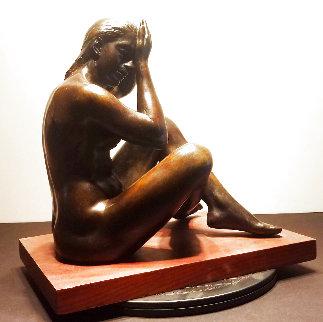 Seated Nude #1 Bronze Sculpture 1946 13 in Sculpture - Joe Brown