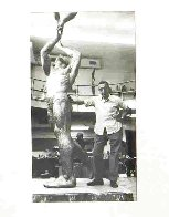 Two Athletes (Gymnasts) 21 in Sculpture by Joe Brown - 9