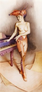 Piano Limited Edition Print by Gil Bruvel