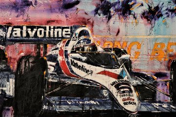 Long Beach Grand Prix 1990 48x84 Huge Original Painting - Michael Bryan