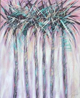 Untitled 1988 60x48 Huge Original Painting - Michael Bryan