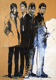 Beatles a Hard Days Night 2001 96x48 Original Painting - Michael Bryan