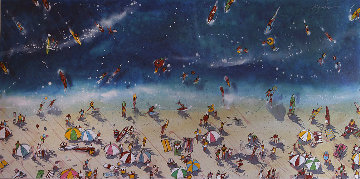 Day At the Beach 2001 48x96 Mural Original Painting by Michael Bryan