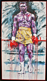 Holyfield, the Real Deal 1993 88x53 Mural Original Painting - Michael Bryan