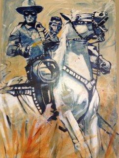 Swift Justice Lone Ranger and Tonto 48x72 Original Painting - Michael Bryan