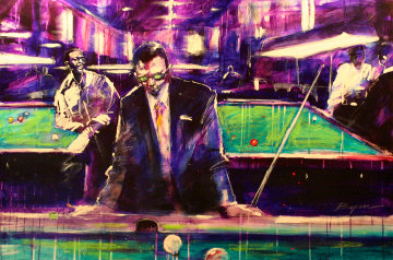 Pool Player 1999 24x36 Original Painting - Michael Bryan