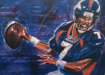 John Elway Limited Edition Print by Michael Bryan