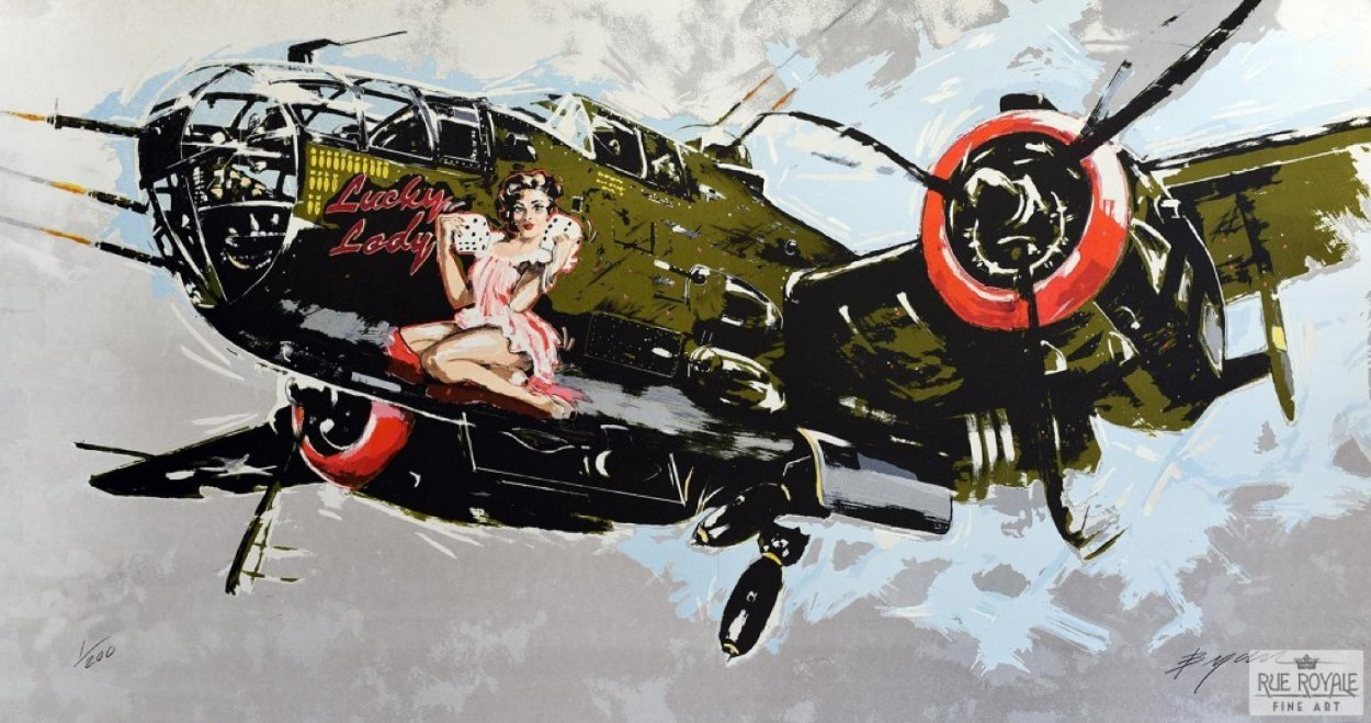 Lucky Lady 2014 Super Huge Limited Edition Print by Michael Bryan