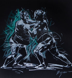 Sumo Wrestling 1994 Limited Edition Print - Michael Bryan