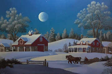 Winterset Farm Limited Edition Print by Jim Buckels