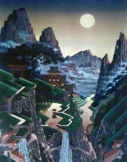 Seventh Torii 1989 48x35 Limited Edition Print by Jim Buckels