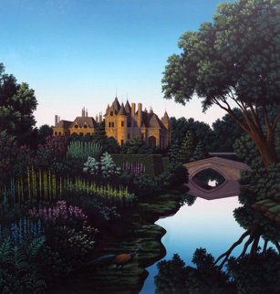 Morning on the Cher 1990 Limited Edition Print - Jim Buckels