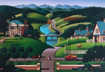 Trouble At Walnut Ridge 1989 Limited Edition Print by Jim Buckels