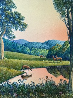 Carmel Valley 2000 16x14 Original Painting - Jim Buckels