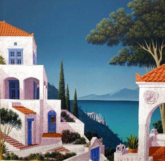 Scylla And Charybdis 1990 26x26 Original Painting - Jim Buckels