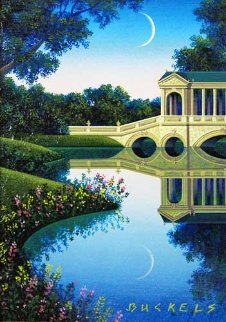 Study: The Bridge at Stourhead 6x4 Original Painting - Jim Buckels