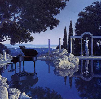 Blue Rain 1989 Limited Edition Print - Jim Buckels