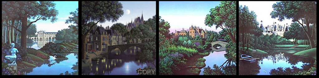 Son Et Lumiere Folio Suite of 4 Limited Edition Print by Jim Buckels