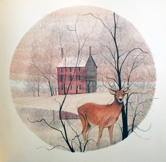 Deer Watercolor 1975 17 in Original Painting - Pat Buckley Moss