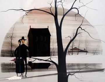 Unity Amish Watercolor 1986 35x43 Watercolor - Pat Buckley Moss