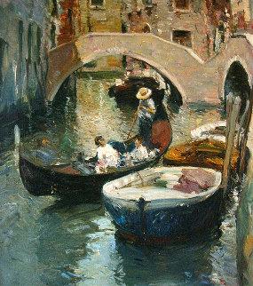 Venecia 1992 25x32 Original Painting by Giner Bueno