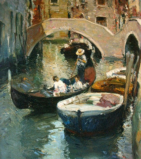 Venecia 1992 25x32 Original Painting by Giner Bueno