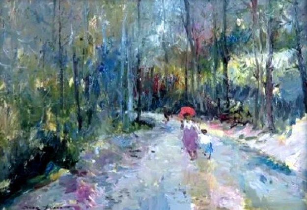Untitled Landscape 28x36 Original Painting by Giner Bueno