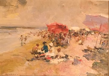 Playa 1998 18x25 Original Painting - Giner Bueno