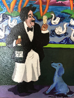 Blanc Du Lac 2003 24x21 Original Painting by Guy Buffet