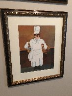Epicurean Suite of 4, and an Original Drawing 'Soup and Cucaracha' 1996 21x18 w Remarque Limited Edition Print by Guy Buffet - 8