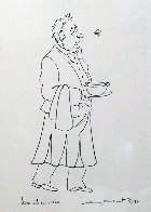 Epicurean Suite of 4, and an Original Drawing 'Soup and Cucaracha' 1996 21x18 w Remarque Limited Edition Print by Guy Buffet - 0