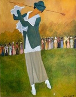 Deauville Lady's Open 1992 48x41 Original Painting by Guy Buffet