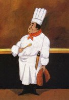 Chef Albert Limited Edition Print by Guy Buffet - 0