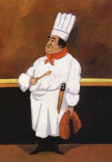 Chef Albert Limited Edition Print by Guy Buffet