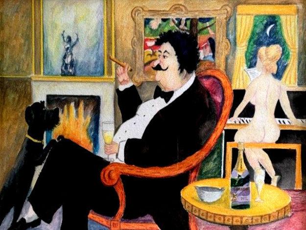 Paul Gauguin In Tahiti 1998 28x24 Original Painting by Guy Buffet