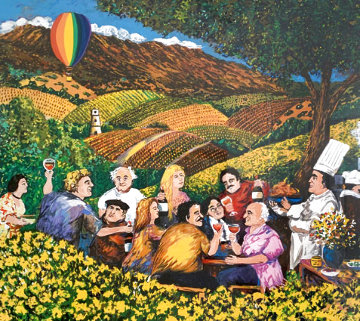 Napa Valley Mustard Festival 2001 Limited Edition Print - Guy Buffet