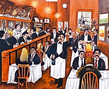 Washington Square Bar and Grill Limited Edition Print - Guy Buffet