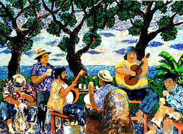 Pau Hana AP   Aka Happy Hour Limited Edition Print - Guy Buffet