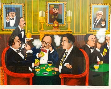 Poker Night At the Club Limited Edition Print - Guy Buffet