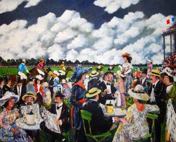 Grand Prix 1986 49x50 Huge Original Painting - Guy Buffet