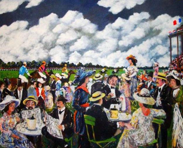 Grand Prix 1986 49x50 Original Painting by Guy Buffet