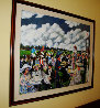 Grand Prix 1986 49x50 Original Painting by Guy Buffet - 4