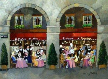 La Fontaine De Mars 18x24 Original Painting - Guy Buffet