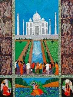 Taj Mahal 40x30 Original Painting - Guy Buffet