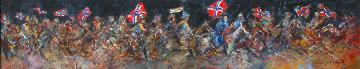 Robert E Lee 15x62 Original Painting by Guy Buffet